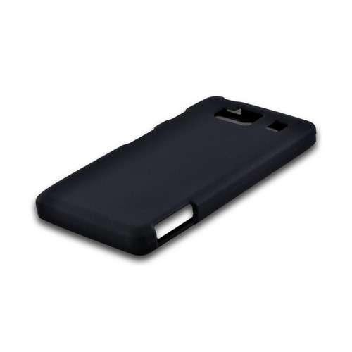 Motorola Droid RAZR MAXX HD Rubberized Hard Case - Black