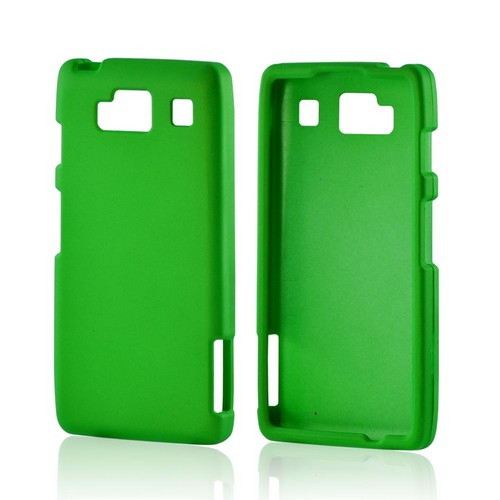 Motorola Droid RAZR MAXX HD Rubberized Hard Case - Neon Green