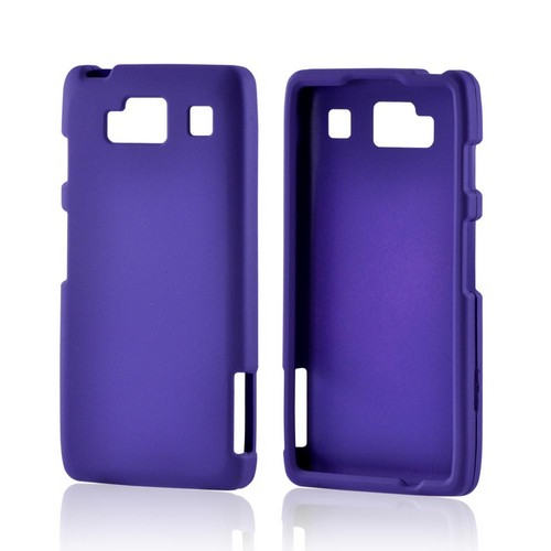 Motorola Droid RAZR MAXX HD Rubberized Hard Case - Purple