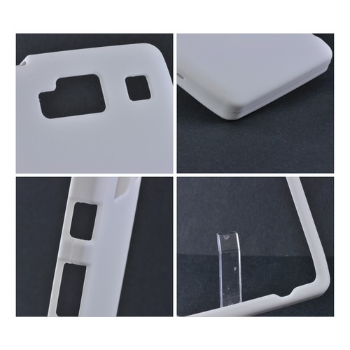 Motorola Droid RAZR MAXX HD Rubberized Hard Case - White