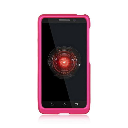 Hot Pink Rubberized Hard Case for Motorola Droid Mini