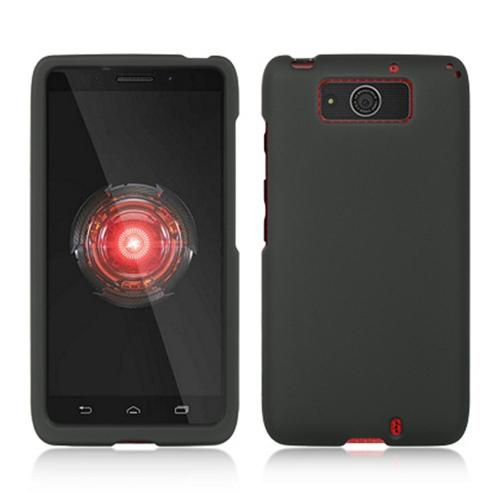Manufacturers Black Rubberized Hard Case for Motorola Droid Ultra/ Droid MAXX Hard Cases