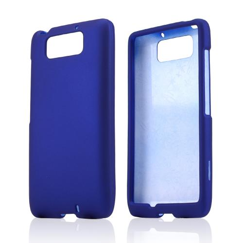 Blue Rubberized Hard Case for Motorola Droid Ultra/ Droid MAXX