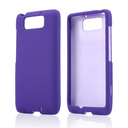 Purple Rubberized Hard Case for Motorola Droid Ultra/ Droid MAXX
