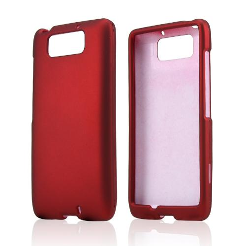 Red Rubberized Hard Case for Motorola Droid Ultra/ Droid MAXX