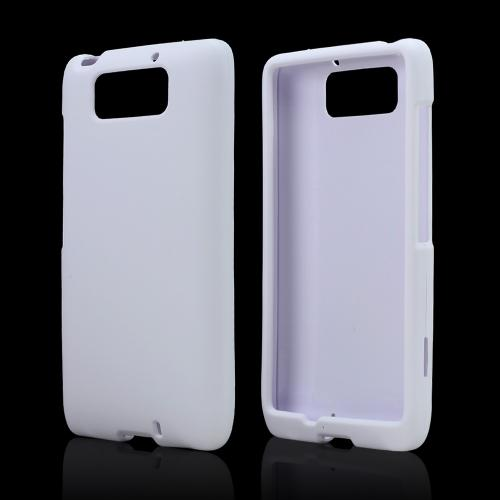 White Rubberized Hard Case for Motorola Droid Ultra/ Droid MAXX
