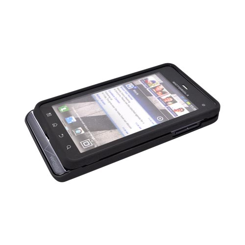 Motorola Droid 3 Rubberized Hard Case - Black