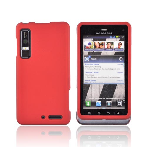 Motorola Droid 3 Rubberized Hard Case - Red