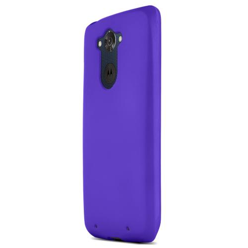 Motorola Droid Turbo Protective Rubberized Hard Case - Anti-slip Matte Rubber Material [Perfect Fitting Motorola Droid Turbo (2014) Case] [purple]
