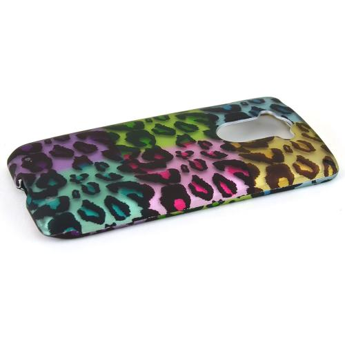 Motorola Droid Turbo [rainbow Leopard] Protective Rubberized Hard Case - Anti-slip Matte Rubber Material [Perfect Fitting Motorola Droid Turbo]