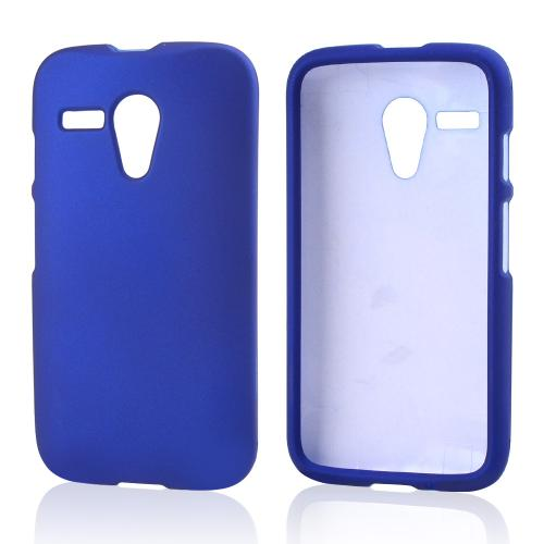 Blue Rubberized Hard Case for Motorola Moto G
