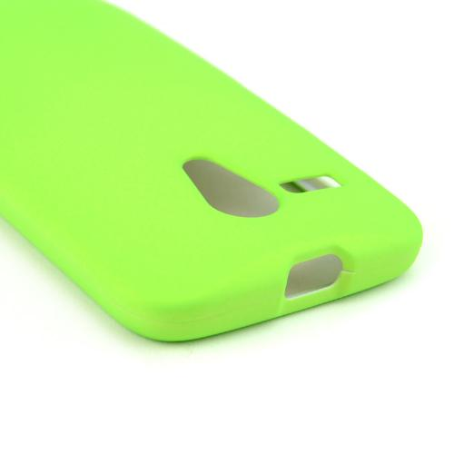 Neon Green Rubberized Hard Case for Motorola Moto G