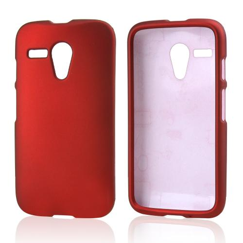 Red Rubberized Hard Case for Motorola Moto G