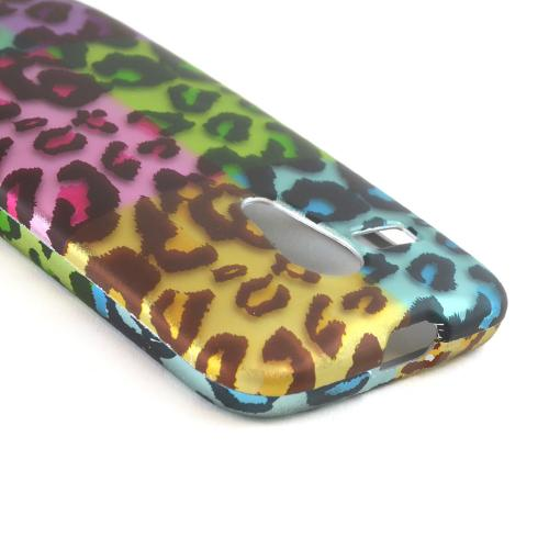 Multi-Colored Artsy Leopard Rubberized Hard Case for Motorola Moto G