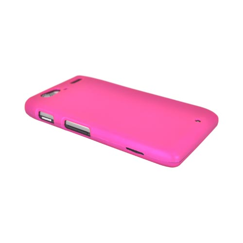 Motorola Droid RAZR MAXX Rubberized Hard Case - Hot Pink