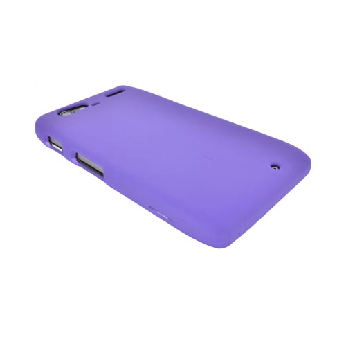 Motorola Droid RAZR MAXX Rubberized Hard Case - Purple
