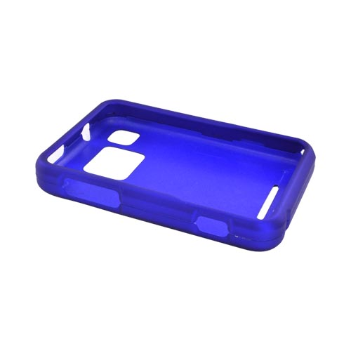 Motorola Charm MB502 Rubberized Hard Case - Blue