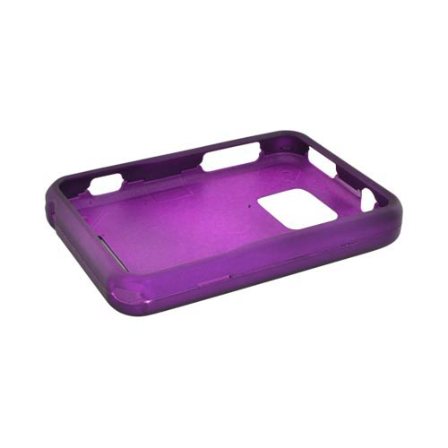 Motorola Charm MB502 Rubberized Hard Case - Purple