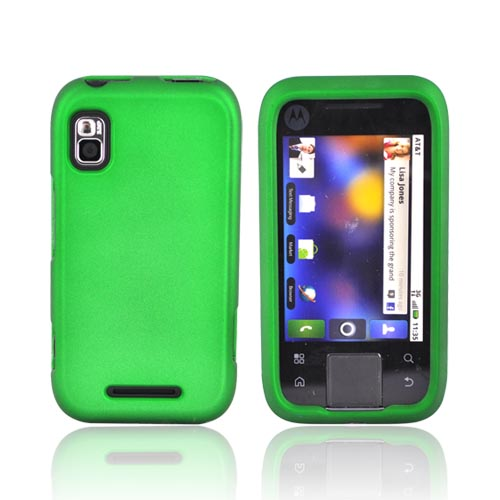 Motorola Flipside MB508 Rubberized Hard Case - Green