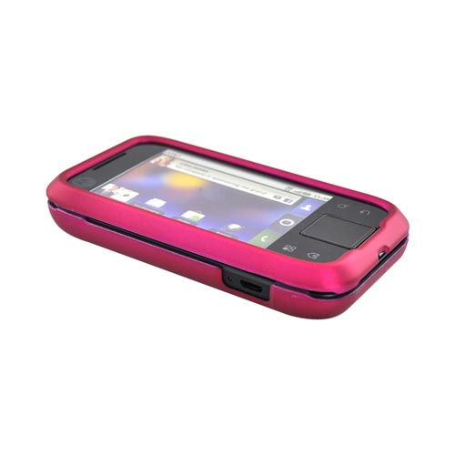 Motorola Flipside MB508 Rubberized Hard Case - Rose Pink