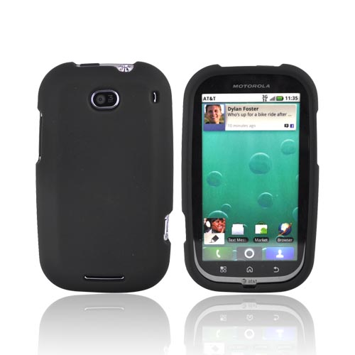 Motorola Bravo MB520 Rubberized Hard Case - Black