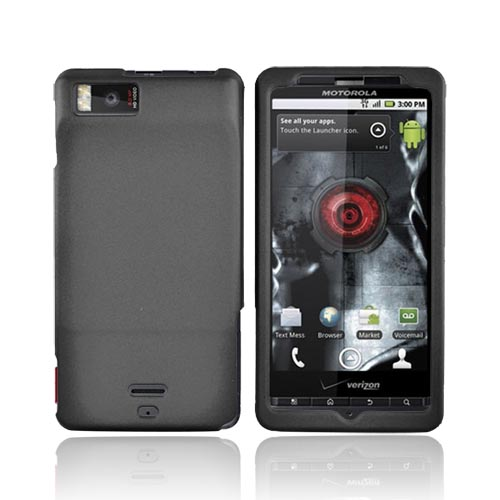 Motorola Droid X MB810 Rubberized Hard Case - Black