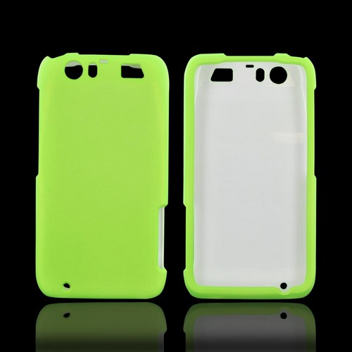 Motorola Atrix HD Rubberized Hard Case - Neon Green