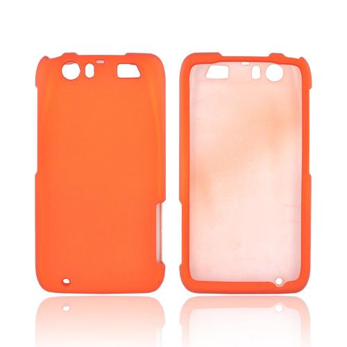 Motorola Atrix HD Rubberized Hard Case - Orange