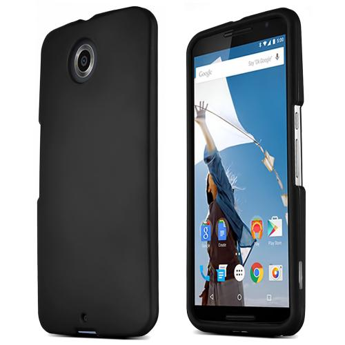 Motorola Nexus 6 Protective Rubberized Hard Case - Anti-Slip Matte Rubber Material [Slim and Perfect Fitting Motorola Nexus 6 (2014) Case] [Black]