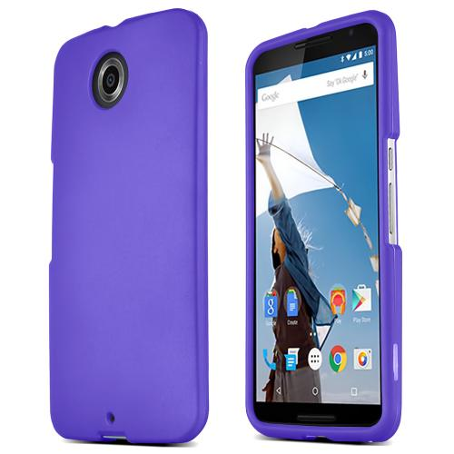 Motorola Nexus 6 Protective Rubberized Hard Case - Anti-Slip Matte Rubber Material [Slim and Perfect Fitting Motorola Nexus 6 (2014) Case] [Purple]