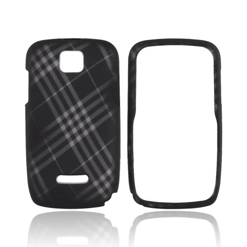 Motorola Theory Rubberized Hard Case - Gray Plaid on Black