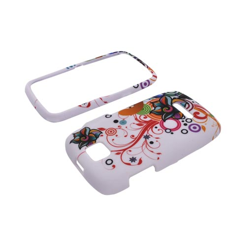 Motorola Theory Rubberized Hard Case - Rainbow Autumn Floral Design on White