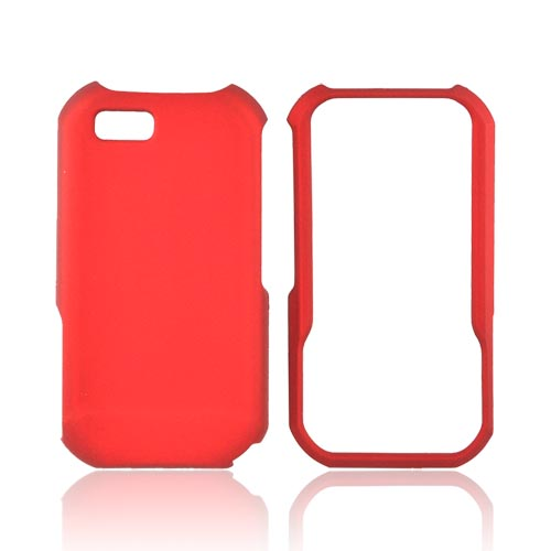 Motorola TITANIUM Rubberized Hard Case - Red