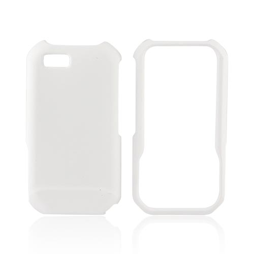 Motorola TITANIUM Rubberized Hard Case - Solid White