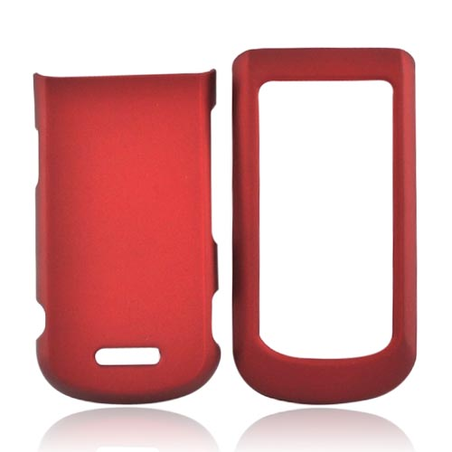 Motorola Bali WX415 Rubberized Hard Case - Red