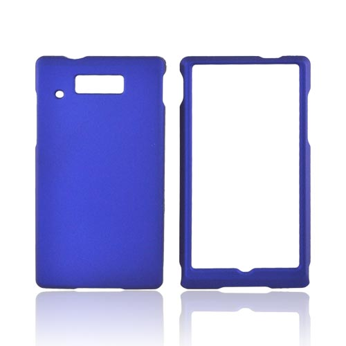 Motorola Triumph Rubberized Hard Case - Blue