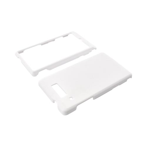 Motorola Triumph Rubberized Hard Case - Solid White