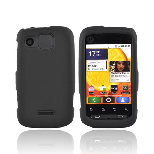 Motorola Citrus WX445 Rubberized Hard Case - Black