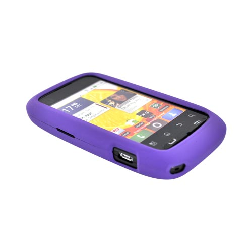Motorola Citrus WX445 Rubberized Hard Case - Purple