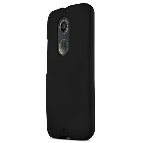 Motorola Moto X (2014) Protective Rubberized Hard Case - Anti-slip Matte Rubber Material [Perfect Fitting Motorola Moto X (2014)Case] [black]