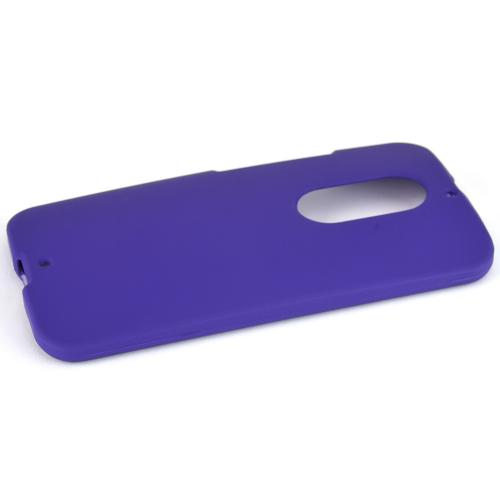 Motorola Moto X (2014) Protective Rubberized Hard Case - Anti-slip Matte Rubber Material [Perfect Fitting Motorola Moto X (2014)Case] [purple]