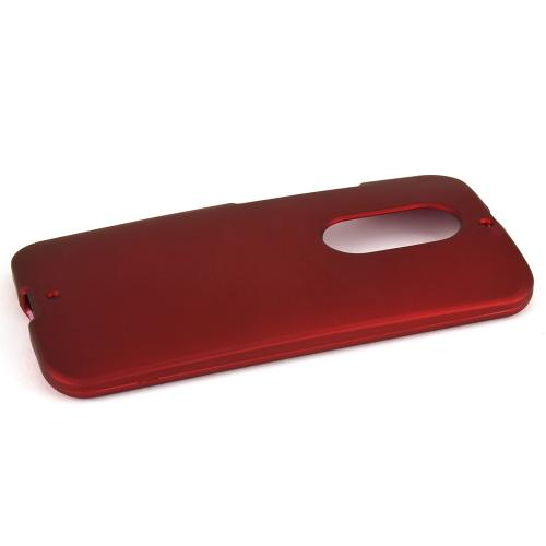 Motorola Moto X (2014) Protective Rubberized Hard Case - Anti-slip Matte Rubber Material [Perfect Fitting Motorola Moto X (2014) (2014) Case] [red]