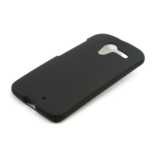 Black Rubberized Hard Case for Motorola Moto X (2013 1st Gen)