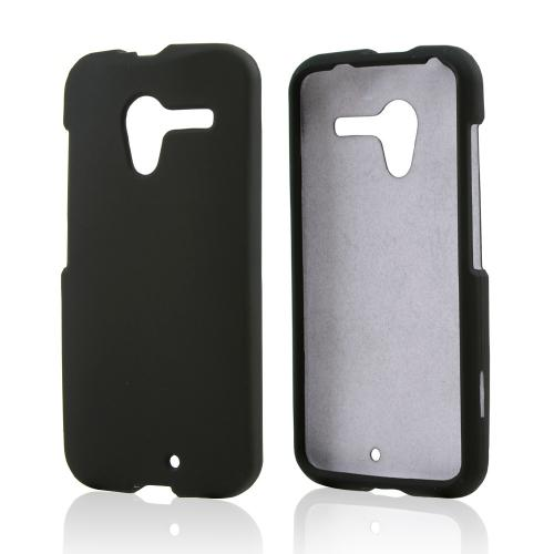 Black Rubberized Hard Case for Motorola Moto X