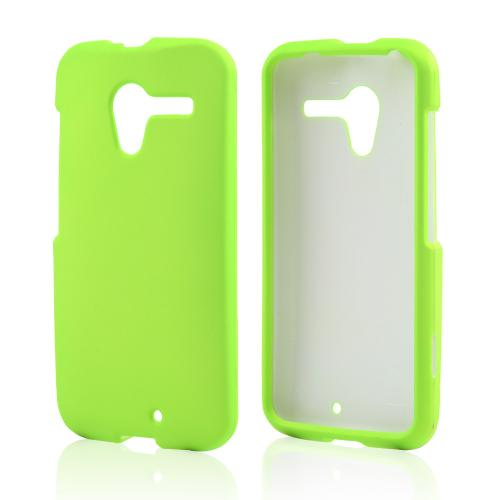 Neon Green Rubberized Hard Case for Motorola Moto X