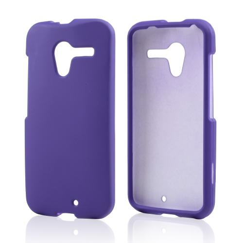Purple Rubberized Hard Case for Motorola Moto X(2013 1st Gen)