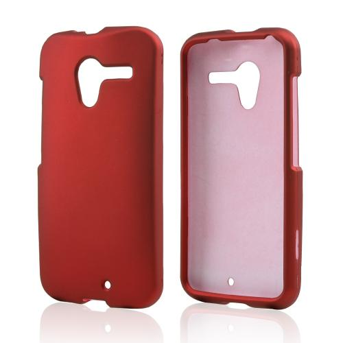 Red Rubberized Hard Case for Motorola Moto X(2013 1st Gen)
