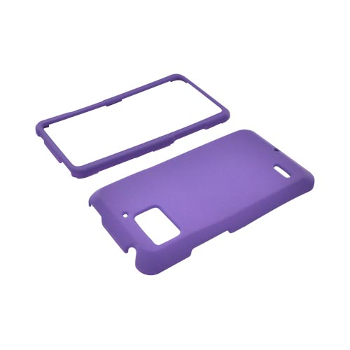 Motorola Droid Bionic XT875 Rubberized Hard Case - Purple