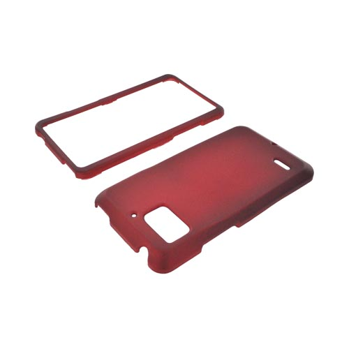 Motorola Droid Bionic XT875 Rubberized Hard Case - Red