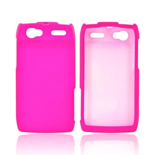 Motorola XT881 Rubberized Hard Case - Hot Pink